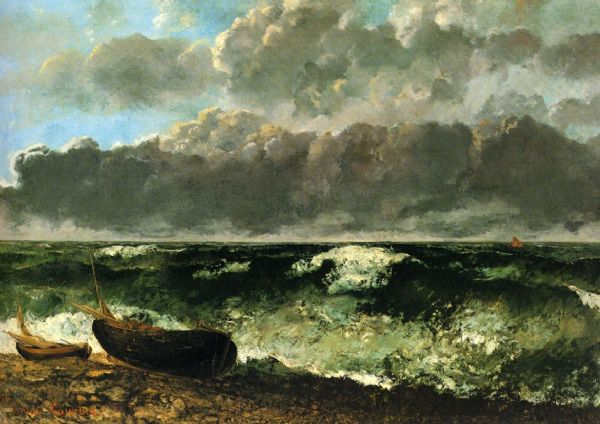 Courbet, Gustave: The Stormy Ocean. Fine Art Print/Poster. Sizes: A4/A3/A2/A1 (001048)